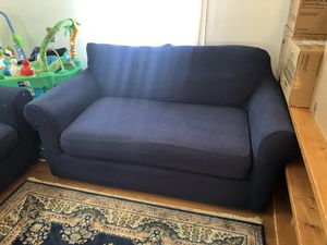 Navy blue couch set for Sale in Annandale, VA