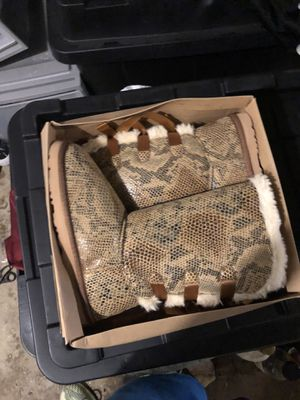 Ugg Shoes   Never Worn Tall Bow Tie snake skin size 7 & 8 for Sale in Upper Darby, PA