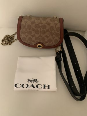 Coach Saddle Belt/Shoulder/Crossbody Bag In Colorblock Signature Canvas for Sale in Miami, FL