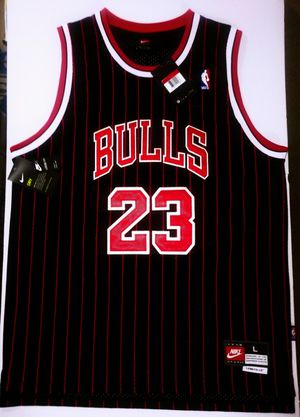 New Authentic Nike Jordan #23 Bulls Pin Striped Swingman Embroidered, Stiched Jersey, Size L-50 for Sale in UPPER ARLNGTN, OH