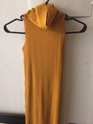Yellow sleeveless turtleneck dress for Sale in Pine Hills, FL