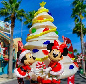 Disney white christmas tree popcorn bucket for Sale in Chino Hills, CA