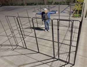 New in box 72 inch or 6 feet tall x 32 inches wide each panel x 16 panels exercise playpen fence safety gate dog cage crate kennel for Sale in Los Angeles, CA