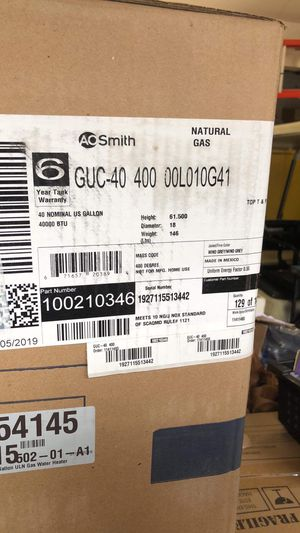 AO Smith water heater 40 gallons for Sale in Redwood City, CA