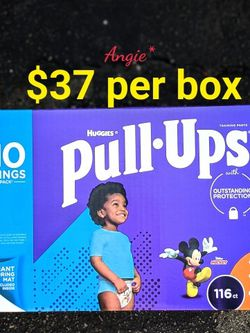 Pull Ups Size 3-4t Boys Large Box for Sale in Lakewood,  CA