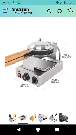 Bubble Waffle Maker for Egg Puff and Hong Kong Waffles | Stainless Steel for Sale in Fontana, CA