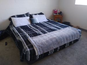 King size brass plush bematress and box springs for Sale in South Salt Lake, UT