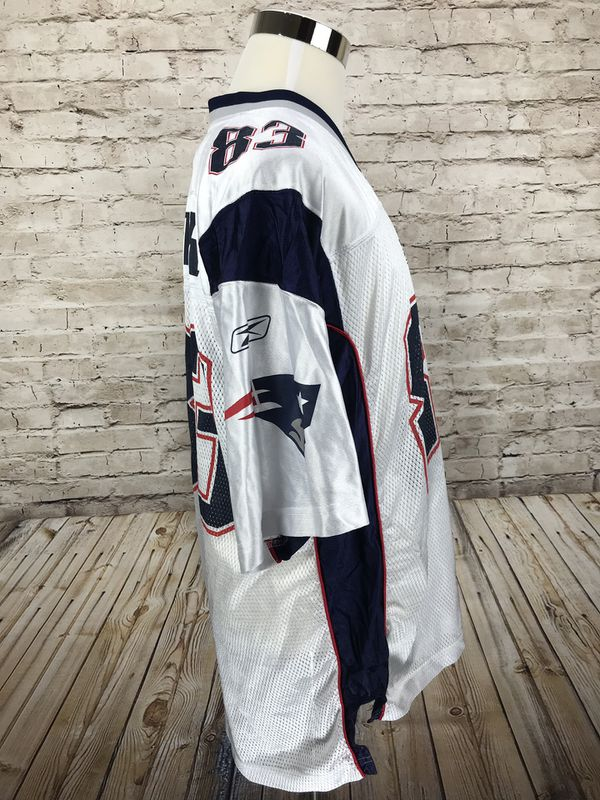 New England Patriots Wes Welker #83 Men's Large White Away Jersey