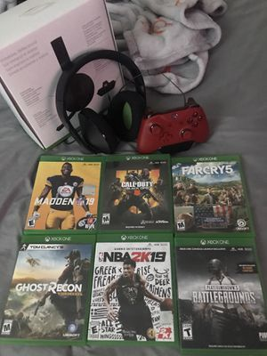 Six games,headphone and wireless remote for Sale in Lawrence, MA