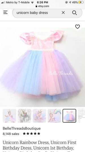 Birthday unicorn dress from Etsy for Sale in Seattle, WA