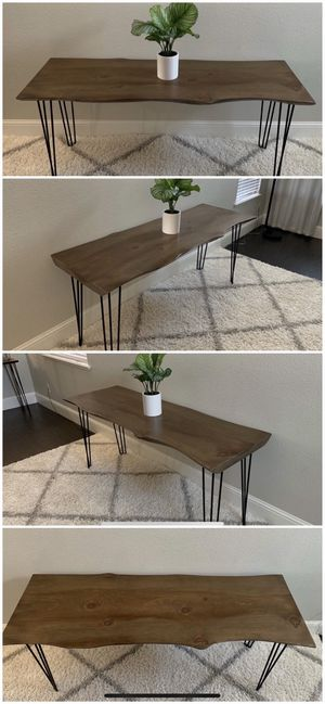 6FT x 2FT Solid Wood Rustic Modern Industrial Live Edge Dining Table for Sale in Fresno, CA
