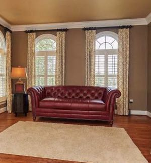 Red leather couch like new for Sale in Washington, DC