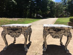 Refinished distressed 2 big end tables for Sale in Mooresville, NC