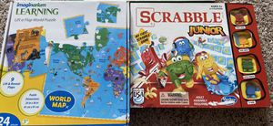 scrabble junior, imagination learning puzzle (both games for $12) for Sale in Miamisburg, OH