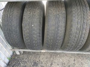 4 used trailer tires, size ST 207/75R14 for Sale in San Diego, CA