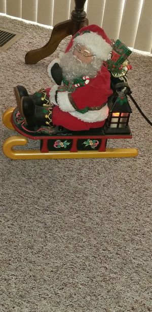 Vintage animated santa on sleigh. for Sale in Ceres, CA