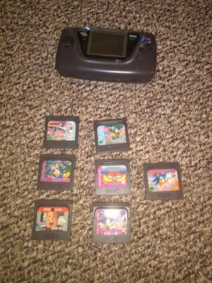 Working Game Gear with case and games for Sale in Harrisonburg, VA