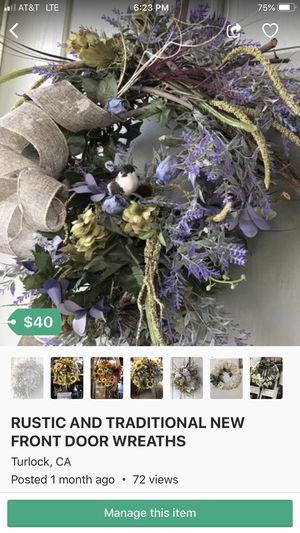 Rustic wreaths for all occasions for Sale in Turlock, CA
