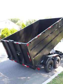 BRAND NEW DUMP TRAILER8X12X4 HEAVY DUTY 12000 LBS HYDRAULIC SYSTEM ELECTRIC BRAKES TITLE IN HAND for Sale in Los Angeles,  CA