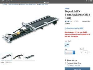 Topeka MTX BeamRack Rear Bike Rack for Sale in Orange, CA