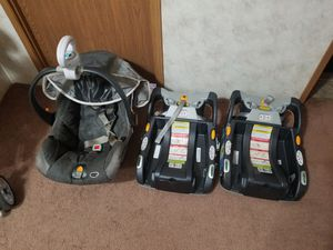 Chicco car seat, stroller, and 2 bases. for Sale in Claysville, PA
