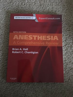 Anesthesia: A Comprehensive Review 5th Edition for Sale in Detroit, MI