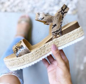 BRAND NEW IN BOX Snake Print Flat-form Espadrille Sandals for Sale in Riverside, CA