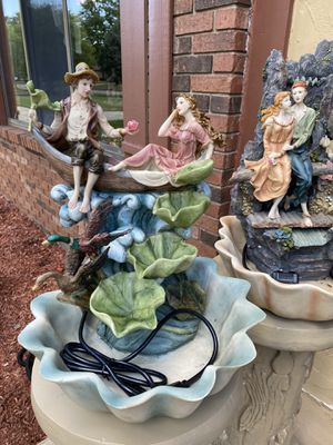 Very beautiful gorgeous patio Fountain Each one 300 with the base for Sale in Troy, MI
