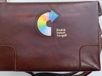Vintage Faux Leather Kodak Scovill Carryall Camera Bag Tote Rainbow Symbol for Sale in Fort Myers,  FL