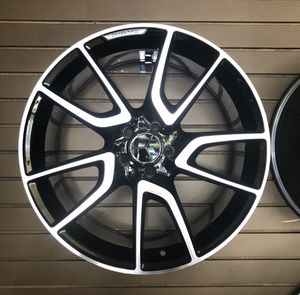 Back in stock 19 inches Mercedes Benz amg rims brand blackmachine wheels for Sale in Caldwell, NJ