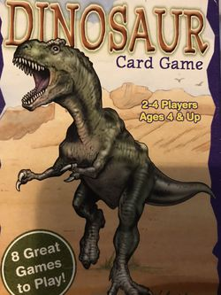 Kids Dinosaur Card Game Ages 4 And Up 8 Great Games! for Sale in Elma,  WA