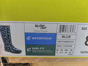 rain boots size 8 new for Sale in E RNCHO DMNGZ, CA