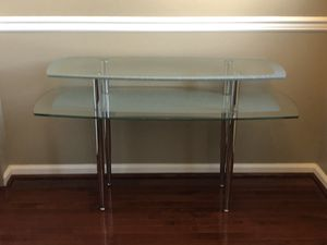 Two tiered glass console table for Sale in Philadelphia, PA