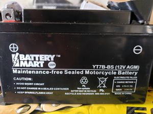 Motorcycle Battery -YT7B-BS, New Battery for Sale in Ridgefield, WA