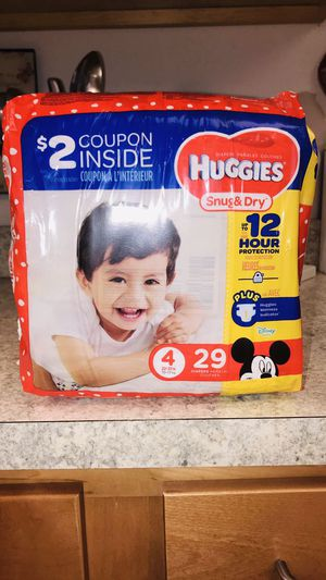 Huggies Diapers 4 size / 29 •• This is last one •• for Sale in Hartford, CT