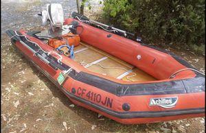 Chilles 9 ft inflatable runabout boat for Sale in Stockton, CA