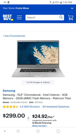 """Chromebook 14.5"""" screen used for a month. $300 to buy in store for Sale in Tustin, CA"""