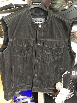 New black denim motorcycle armor vest $100 for Sale in Whittier, CA