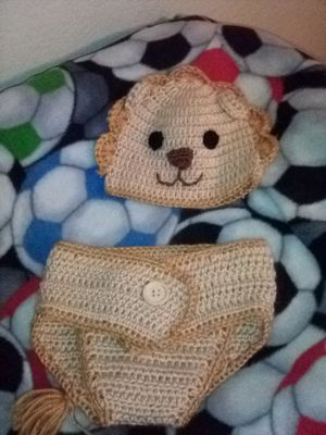 Baby crochet outfit size 0-6 for Sale in Fresno, CA