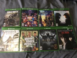 Xbox one games call of duty marvel vs capcom kingdom hearts halo 5 assassins creed grand theft auto diablo 3 dead or alive for Sale in Garden Grove, CA