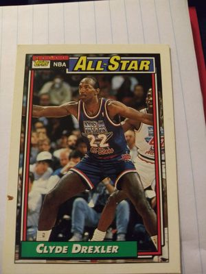 92-93 Clyde drexler Topps all-star tradding card for Sale in Paducah, KY