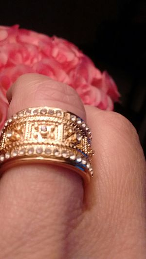 Beautiful gold over sterling silver band ring size 7 brand new for Sale in North Las Vegas, NV