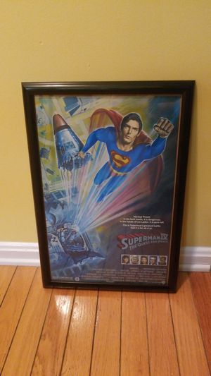 Superman 4 The Quest For Peace poster for Sale in Gaithersburg, MD