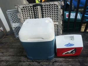 2 coolers for Sale in Edgewood, WA