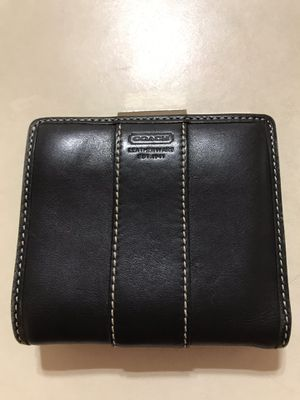 Coach black bi-fold wallet for Sale in Vienna, VA