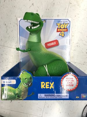 Disney Pixar Toy Story 4 Rex Poseable Figure Rare for Sale in Cerritos, CA