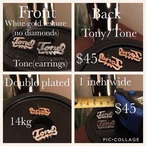 Name plate earrings for Sale in Nashville, TN