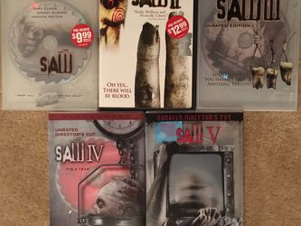 Saw DVDs 1-5 for Sale in Middletown,  CT