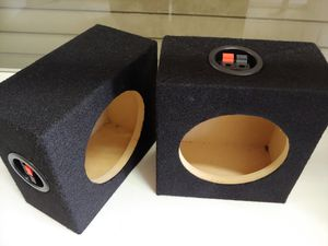 Speaker box : 6.5 inch speaker mini square box (USA MDF) wood pair new w8-h7-d4 for Sale in Bell Gardens, CA