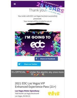 2 EDC 2021 VIP Passes for Sale in North Las Vegas, NV